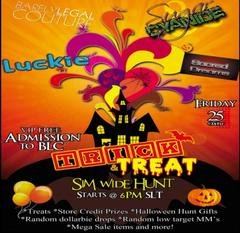 Halloween Party Friday Nite at Barely Legal | Second Life Freeness Huntress | Scoop.it