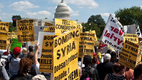 'We say no war': Protesters across the world rally against military strike on #Syria | The world's point of views on Syria's conflict | Scoop.it