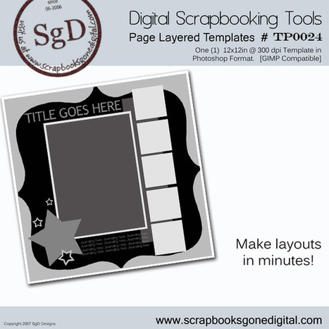 Free Digital Scrapbook: Photoshop Layer Template # T0024 | digital scrapbooking | Scoop.it