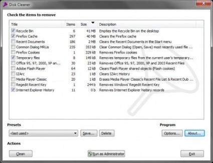 Logiciel gratuit de nettoyage de PC : Disk Cleaner | Les bons plans de la petite entreprise | Scoop.it