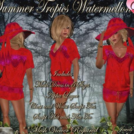 Summer Tropics Watermelon Group Gift by Hudson's Clothing Co | Teleport Hub | Second Life Freebies | Scoop.it