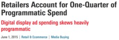 Retailers Account for One-Quarter of Programmatic Spend - eMarketer | Activer l'avenir | Scoop.it