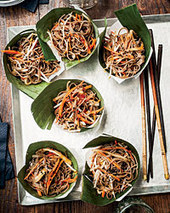 Cold Soba Salad with Dried Shiitake Dressing Recipe - Susan Feniger | Food & Wine | À Catanada na Cozinha Magazine | Scoop.it