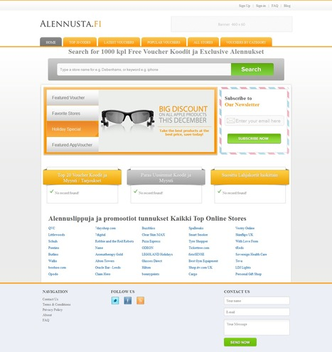 Alennusta Finland discount vouchers and coupons | Magento eCommerce CMS Design and Development | Scoop.it