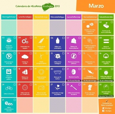 Calendario 2013 con 365 ideas sostenibles | Conciencia Eco | BIO-TIC | Scoop.it