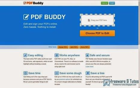 PDF Buddy : un service en ligne pour éditer vos fichiers PDF | Time to Learn | Scoop.it