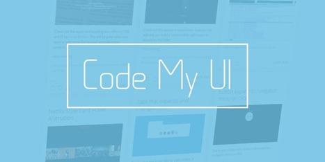 CodeMyUI.com ~ Web Design Inspiration with Code | Les belles ressources ! print - web - digital | Scoop.it