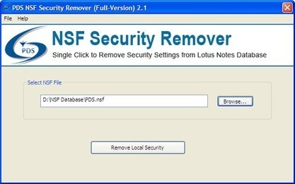Remove Local NSF Security by Lotus Notes NSF Security Remover.Unblock NSF security | Perfect Data Solutions | Scoop.it
