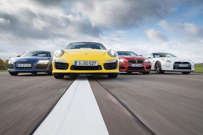 911 Turbo S vs. Audi R8 V10 Plus vs. BMW M6 Coupé vs. Nissan GT-R Black Edition | Chefauto | Scoop.it