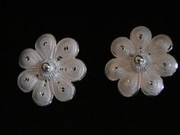 Boucles d'Oreille Argent 925 en Filigrane - Wangdari   boucles d'oreille   Scoop.it