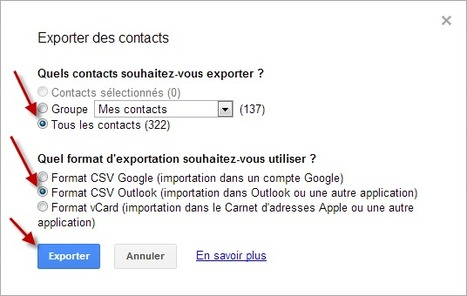 Sauvegarder ses contacts Gmail pour Outlook | Time to Learn | Scoop.it