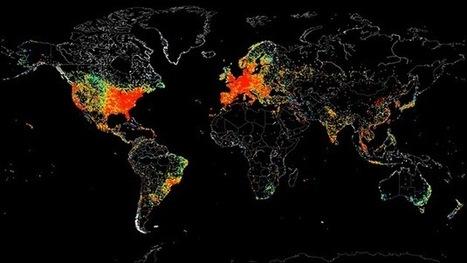 Retrato de la Web: mapamundi de todas las conexiones a Internet | CEMAV | Scoop.it