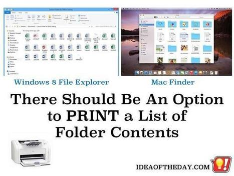 We Should Be Able to PRINT a List of Files in a Folder. - Idea of the Day | PrintableCoupons | Scoop.it