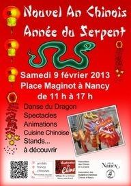 Lihua Arts et Culture Chinois: Nouvel An Chinois 2013 Année du Serpent à Nancy | Nouvel An Chinois 2013 à Nancy Année du Serpent le 9 février de 11h à 17h place Maginot à Nancy | Scoop.it
