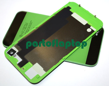 Green iPhone 4S GLASS Battery Door Back Cover w/ iPhone 5 Style+open TOOLS   iPhone 4S Battery Cover With  iPhone 5 Style   Scoop.it