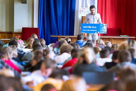 220 élèves ont fait la dictée ELA lue par Christophe Riblon | Fier d'être beauvaisien | Scoop.it