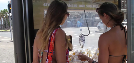 Un abribus qui distribue de la crème solaire | Pilotage et Gestion projets dans le Retail | Scoop.it