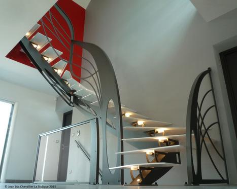 Escalier design double quart tournant chic et tendance | Escalier Design Mobilier Contemporain de style Art Nouveau | Scoop.it