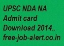 UPSC NDA NA Admit card Download 2014 www.upsc.gov.in Hall Ticket Download model papers | FREEJOBALERT | Scoop.it