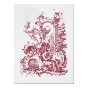 Midday:  Elegant Baroque Engraving - Toile de Jouy Style Poster | Designs by ANTIQUE IMAGES | Scoop.it
