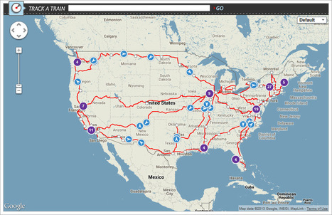 Amtrak Track Trains from Anywhere using Google Maps- any business can do same for sales, field service or delivery | Digital Transformation of Businesses | Scoop.it
