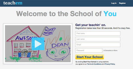 Making Free Online Classes From YouTube Videos: Teachem | Children's books and literacy | Scoop.it