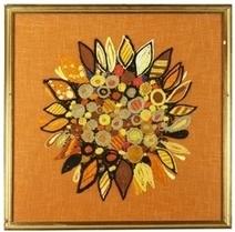 Vintage Wool Work Tapestry on Orange Hessian | Our Stock | Scoop.it