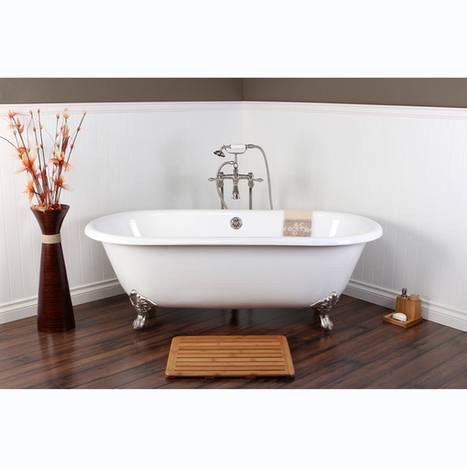 Surprise  White Cast Iron Double-ended 66-inch Clawfoot Bathtub ($1439.99 – $1439.99) | ^^^ Kitchen & Bath Fixtures | Scoop.it