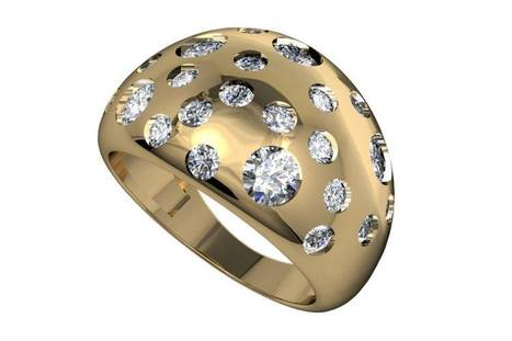 Buy Verona Wide Dome Diamond Band | Diamond Solitaire Ring | Scoop.it