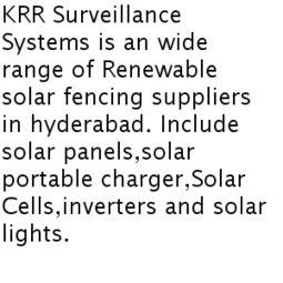 Solar Fencing Suppliers in Hyderabad | Solar Fencing | KRR Surveillance | Scoop.it