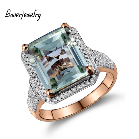 Emerald Cut  Natural Amethyst With Diamond Engagement Ring In Solid 14Kt Gold 10x12mm G00326 | Online Marketing Tips | Scoop.it