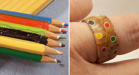 This Guy Turned A Pack Of Colored Pencils Into A Beautiful Ring | Sustainability | Scoop.it