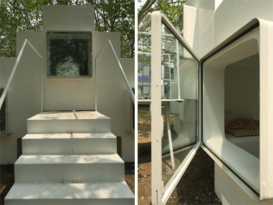 Tiny Pre-Fab Modular Rooms Add Up to a Stackable Home | Designs & Ideas on Dornob | Pre-build Homes | Scoop.it