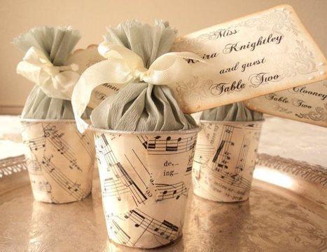 diy Wedding Ideas: Classic Sheet Music Ideas • DIY Weddings Magazine | Candy Buffet Weddings, Events, Food Station Buffets and Tea Parties | Scoop.it