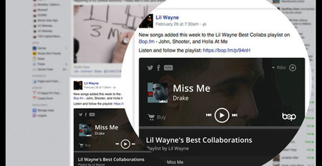 Bop.fm partners with Facebook to play songs within news feed - Music Ally (blog) | MUSIC:ENTER | Scoop.it