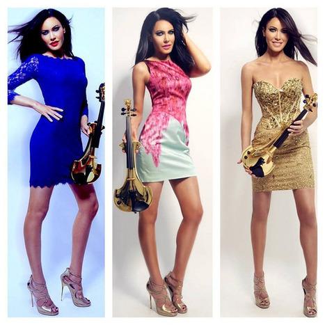 Linzi Stoppard Gold Electric Violin | Linzi Stoppard FUSE | Scoop.it