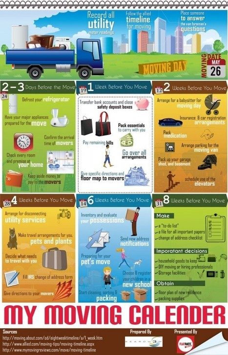 My Moving Calender [Infographic]   Your Product News   Blogs   Scoop.it