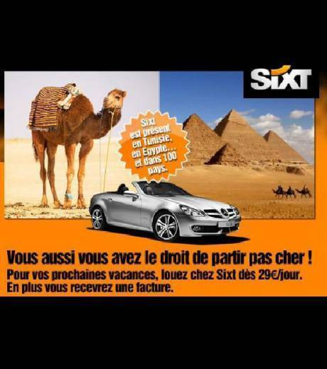 La nouvelle pub de Sixt , pour faire comme Michelle Alliot-Marie et François Fillon ! | Mais n'importe quoi ! | Scoop.it