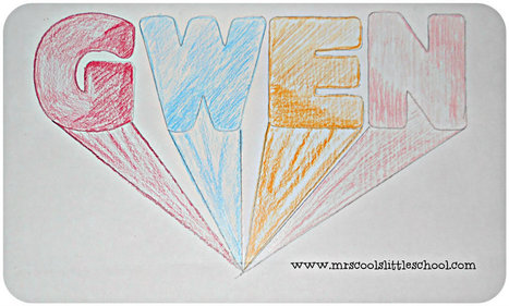 One Point Perspective Name Drawings | Home School | Scoop.it