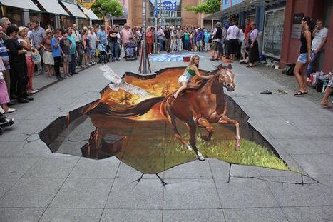 3D Sidewalk Murals Invite Pedestrians to Interact with the Illusive Art   Le It e Amo ✪   Scoop.it