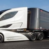A Fuel-Efficient Big Rig From Walmart That Looks Like a Smushed Corvette | Autopia | Wired.com | Trucking | Scoop.it