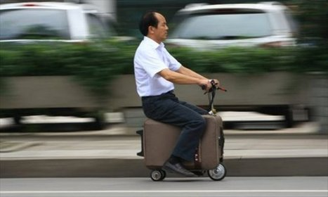 WATCH: Chinese farmer's suitcase-scooter invention in action - Shanghaiist | Ellis IP | Scoop.it