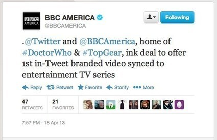 BBC America, Twitter reach first 'in-tweet branded video' deal for a TV series | Social TV, Transmedia, Broadcast Trends | Scoop.it