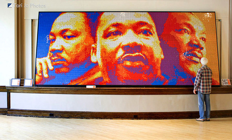 Dream Big, A Rubik's Cubes Mosaic Sculpture of Martin Luther King Jr. | Tech Pedagogy | Scoop.it