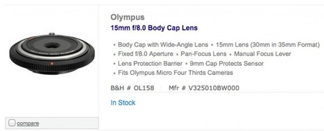 Olympus 15mm body cap lens in Stock. US deal on the 75mm lens ... | PhotographyM43 | Scoop.it