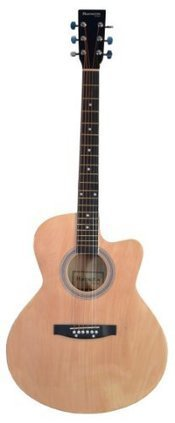 Full Size Round Body Natural Handcrafted Steel String Acoustic Guitar & DirectlyCheap(TM) Translucent Blue Medium Guitar Pick (PRO-J Series) | Best Acoustic Guitar Reviews | Scoop.it