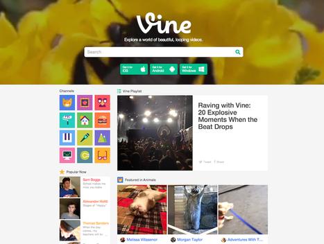 Vine devient le portail de référence de la vidéo de 6 secondes   RHhits   Scoop.it