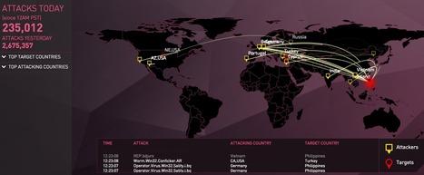 Kuka pommittaa ketä? Näe kyberhyökkäykset reaaliajassa! | Tablet opetuksessa | Scoop.it
