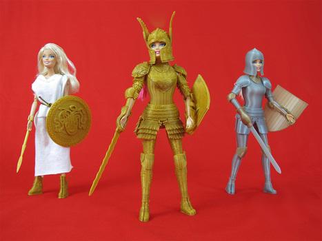 3D-Printed Open Source Medieval Armor for Barbie | Peer2Politics | Scoop.it