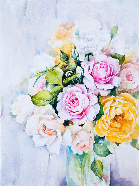Splattered Watercolor Paintings Capture the Beautiful Vibrancy of Delicate of Flowers | Le It e Amo ✪ | Scoop.it